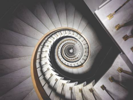 spiral staircase stairwell Free Photo