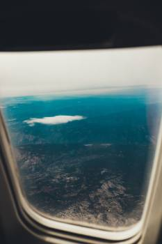airplane window flying #24043