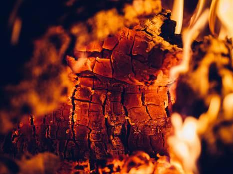 fire flames fireplace Free Photo