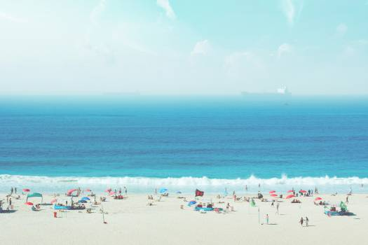 beach sand people Free Photo