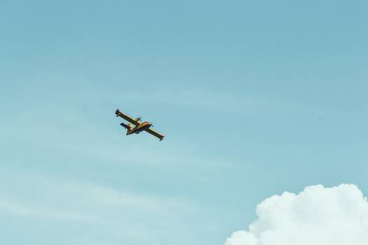 airplane flying sky Free Photo