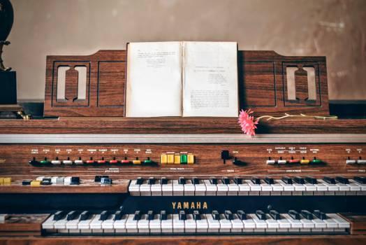 piano keyboard music Free Photo