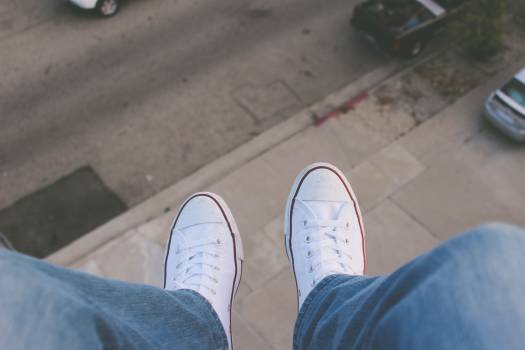 white shoes sneakers Free Photo