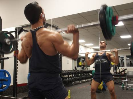 Barbell Weight Sports equipment Free Photo