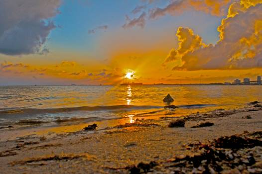 Beach Sun Sunset #243700