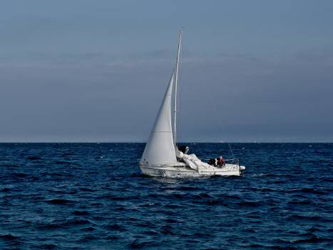 sailboat sailing ocean Free Photo