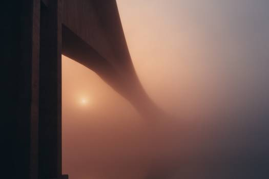 bridge architecture foggy #24439