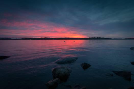 sunset dusk sky #24441