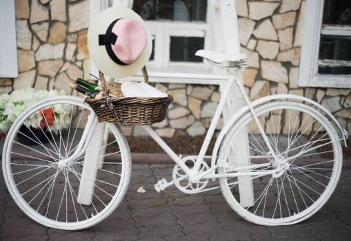 white bicycle bike #24456