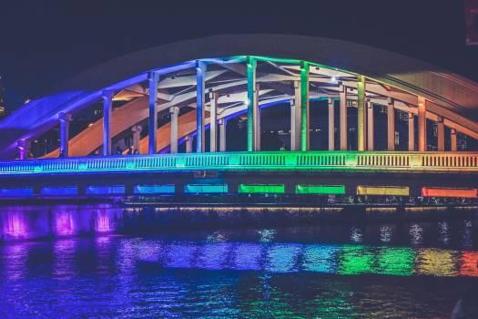 bridge architecture lights Free Photo