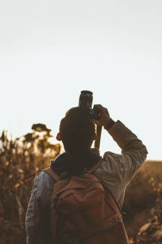 Photographer Binoculars Man Free Photo