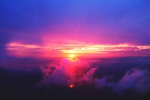 sunset dusk sky #24520