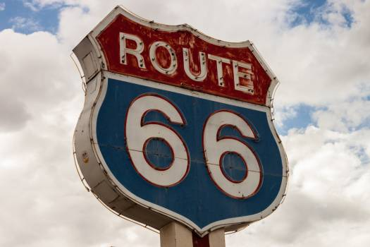 route 66 sign highway #24536