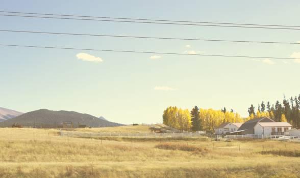 grass fields rural Free Photo