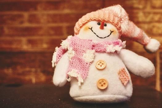 snowman scarf hat Free Photo
