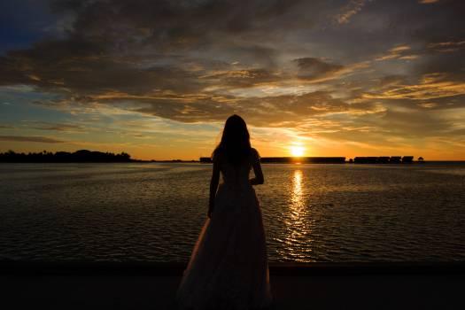 Cloak Covering Sunset Free Photo