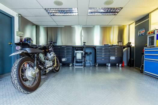 motorcycle motorbike garage Free Photo