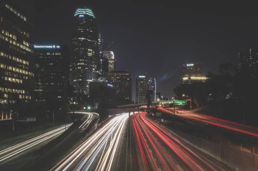 highway lights night #24678