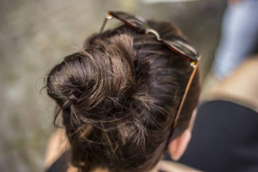 brunette bun hair #24709