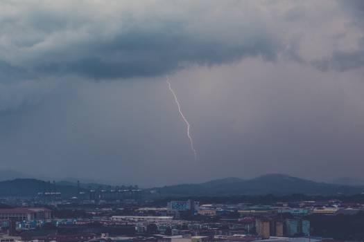 lightning storm clouds Free Photo