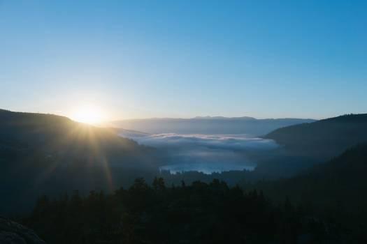 sunrise morning mountains Free Photo