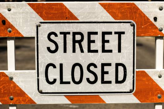 street closed construction Free Photo