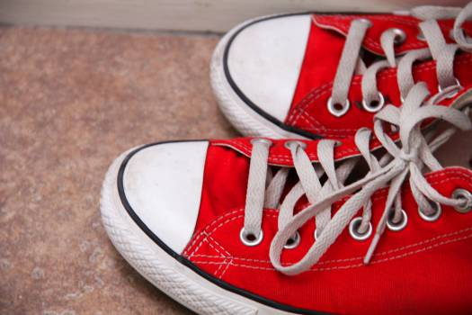 red converse shoes Free Photo