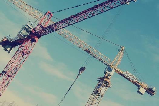 cranes construction industrial #24890