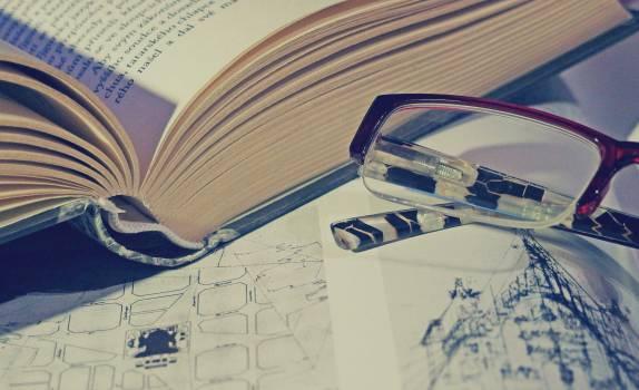book reading eyeglasses Free Photo