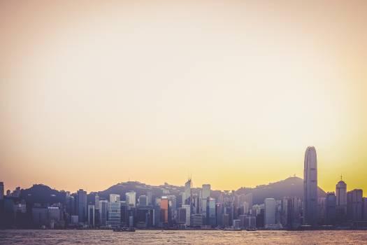 skyline cityscape Hong Kong Free Photo