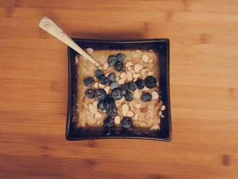 oatmeal blueberries almonds #24971