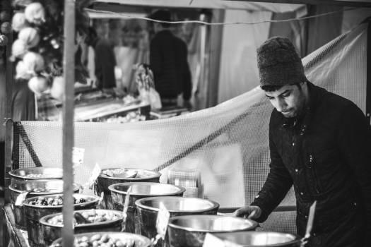 market bazaar street vendors #25014