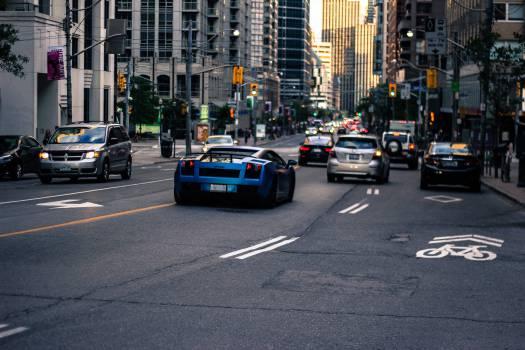 Lamborghini cars street Free Photo