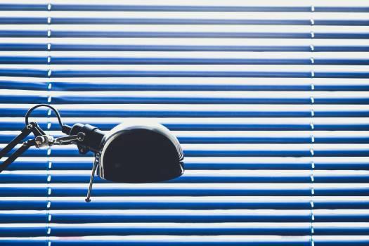 blue blinds lamp Free Photo