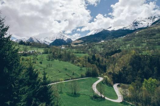 landscape mountains peaks Free Photo