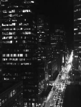 Skyscraper City Night Free Photo