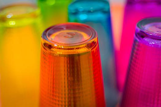 #343 - colored glass cups Free Photo