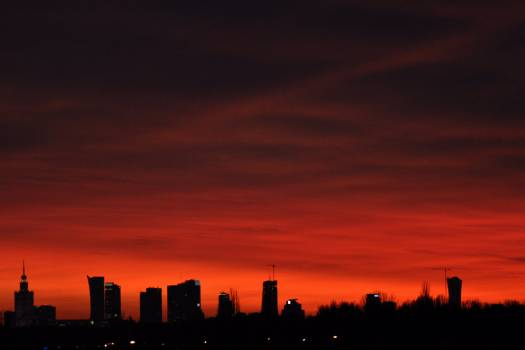 Warsaw's sunset #25490