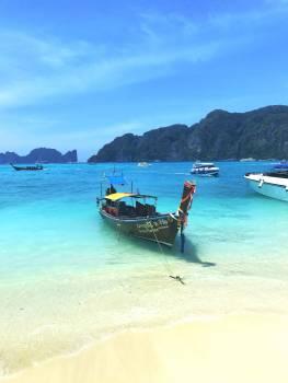 Beach Sea Boat Free Photo