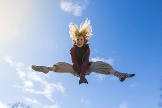 Jumping Jump Trampoline Free Photo