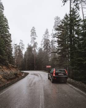Snow Bend Road Free Photo
