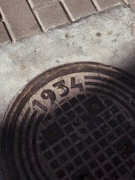 Manhole cover Top Covering Free Photo