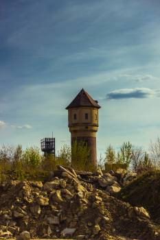 Mine shaft and tower Free Photo