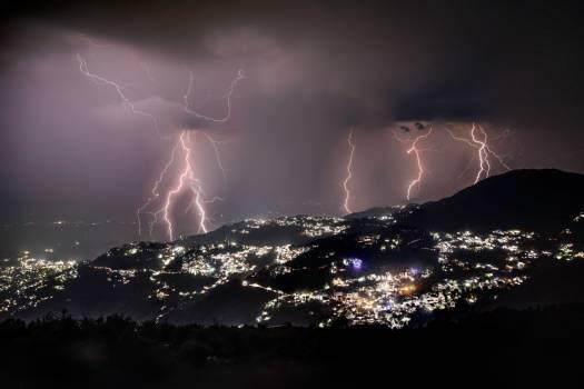Lightning Sky Night Free Photo
