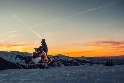 Snowmobile Tracked vehicle Mountain Free Photo