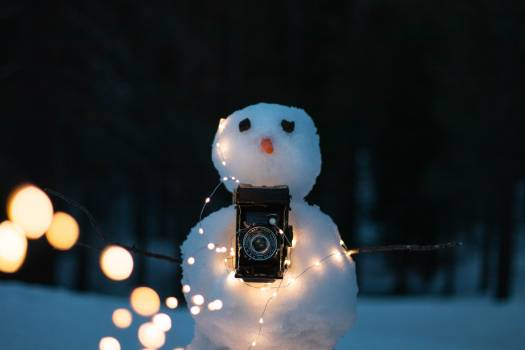Snowman Figure Creation Free Photo