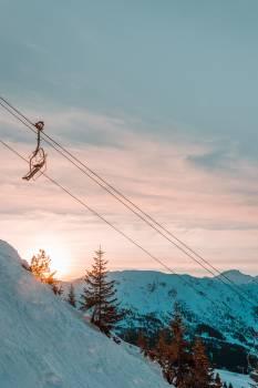 Ski tow T-bar lift Wire Free Photo