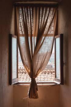 Window shade Pullback Hanging Free Photo