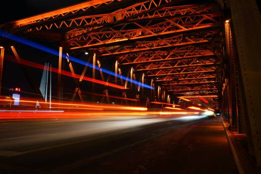 Night Road City Free Photo