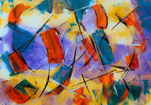 Acrylic Painter Texture Free Photo